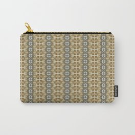 yellow floral striped pattern Carry-All Pouch