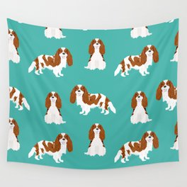 Cavalier King Charles Spaniel blenheim coat dog breed spaniels pet lover gifts Wall Tapestry