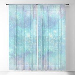 Painted Galaxy Paper V45 Sheer Curtain