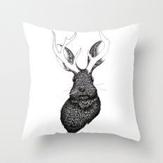 The Jackalope Throw Pillow