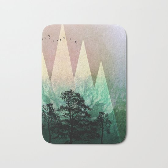 TREES under MAGIC MOUNTAINS IV Bath Mat