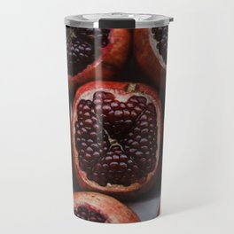 Pomegranates in Israeli Market Travel Mug