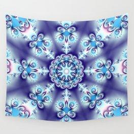 Elegant swirly kaleidoscope design in soft blue, pink, purple and cream Wall Tapestry