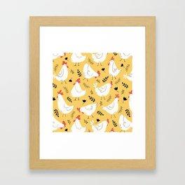 Lovely Little Hens Framed Art Print