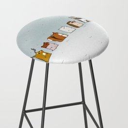 Winter forest animals Bar Stool