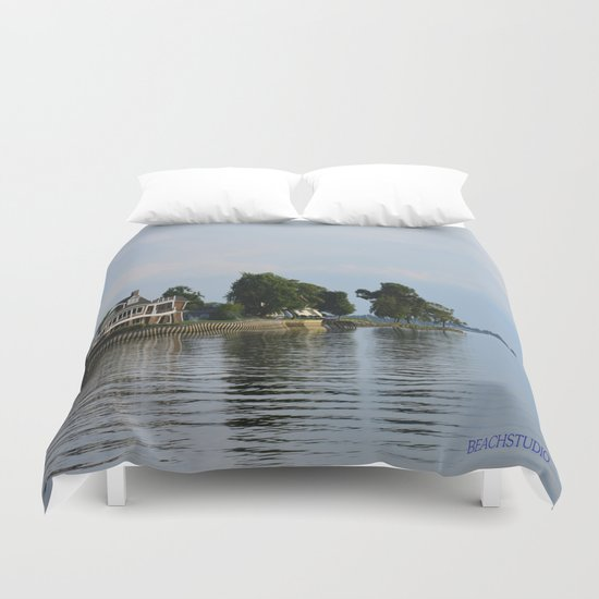 Crooked Boathouse Duvet Cover
