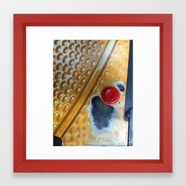 Red Button Framed Art Print