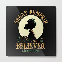 Great Pumpkin Believer Metal Print