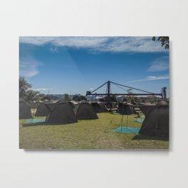 Glamping Camping Metal Print