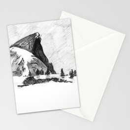 Drawing of Half-Dome in Yosemite from the north Stationery Cards