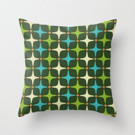 Mid Century Modern Star Pattern 581 Throw Pillow