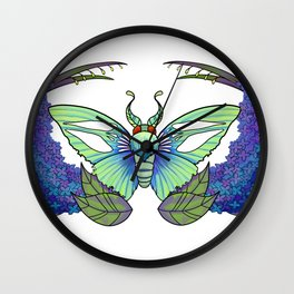 Moon Moth Wall Clock
