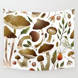 Mushrooms Pattern Wall Tapestry