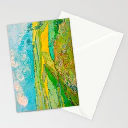 Wheat Fields after the Rain (The Plain of Auvers), July 1890 Oil Painting by Vincent van Gogh Stationery Cards