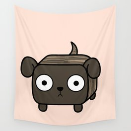 Pitbull Loaf- Brindle Pit Bull with Floppy Ears Wall Tapestry