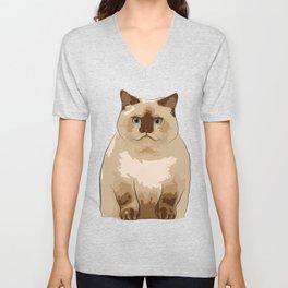 Fluffy CAT Unisex V-Neck