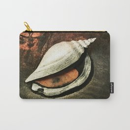 Painted Sea Shell Carry-All Pouch