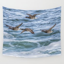 Brent Geese in Flight Wall Tapestry