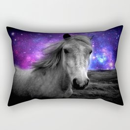 Horse Rides & Galaxy Skies Rectangular Pillow