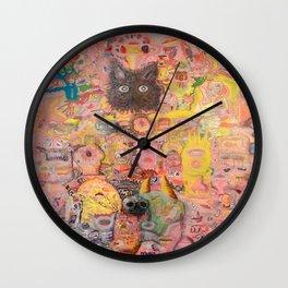 Pink Nightmare Wall Clock