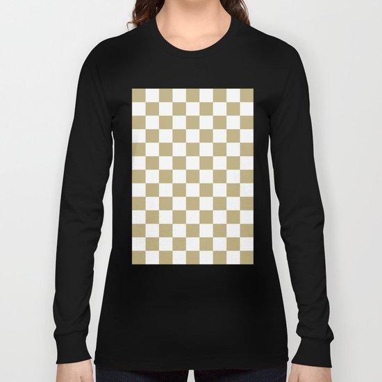 Checker (Sand/White) Long Sleeve T-shirt