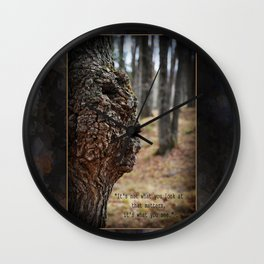 Face in Tree ~ What You See  Wall Clock