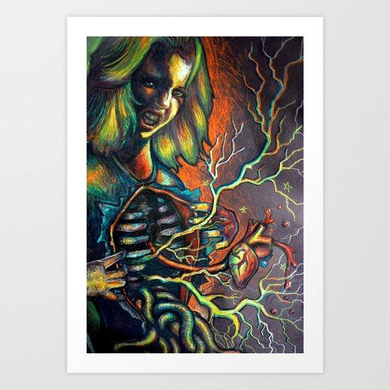 Inner and outer portrait Art Print