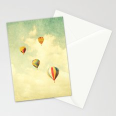Drifting Balloons Stationery Cards