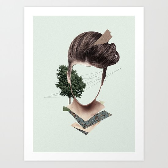 Woman Collage Art Print