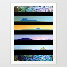 NEW ZEALAND PAUA LANDSCAPES Art Print