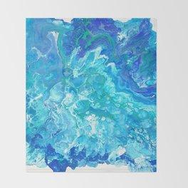 Aqua Ocean Blue Throw Blanket