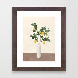 Lemon Branches II Framed Art Print