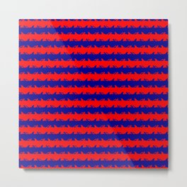 Australian Flag Blue and Red Shark Attack Stripes Metal Print