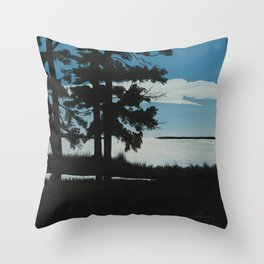 SHADOW BY THE LAKE Throw Pillow