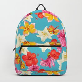 Florais col turq Backpack