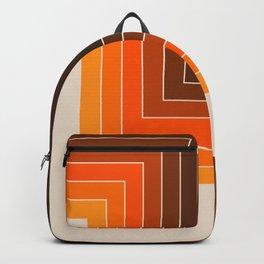 Cornered Golden Backpack