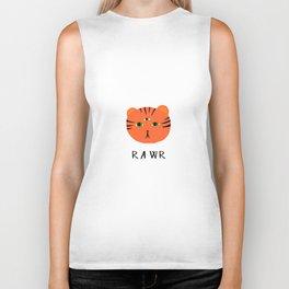 tiger says rawr! Biker Tank