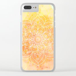 Watercolor Mandala // Sunny Floral Mandala Clear iPhone Case