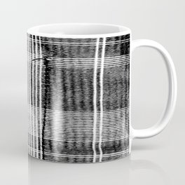 Stitched Plaid in Black and White Coffee Mug