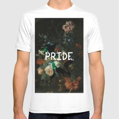 Pride MEDIUM Mens Fitted Tee White