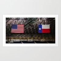 texas Art Prints featuring Texas by Chee Sim