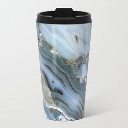 Golden Aqua Marble Travel Mug