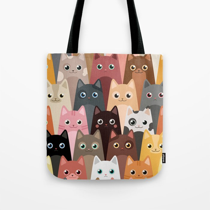 Cats Pattern Umhängetasche