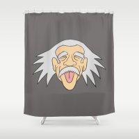 einstein Shower Curtains featuring Einstein by martinashdesign