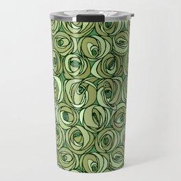 "Charles Rennie Mackintosh ""Roses and teardrops"" edited 11. Travel Mug"