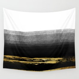 Black & Gold Stripes on White- Mix & Match with Simplicty of life Wall Tapestry