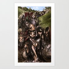 The Parade (colour) Art Print