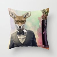 ben giles Throw Pillows featuring BEN by Hagara Stuff