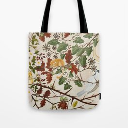 Marsh Tit and Field Mice Tote Bag