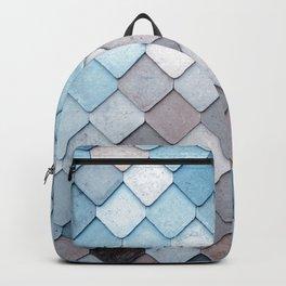 blue pattern Backpack